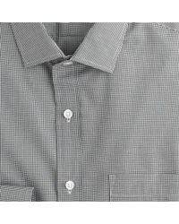 J.Crew - Black Ludlow Shirt In Microgingham for Men - Lyst