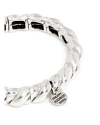 Philippe Audibert - Metallic 'lester' Twist Rope Elastic Bracelet - Lyst