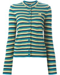 Love Moschino - Blue Striped Cardigan - Lyst