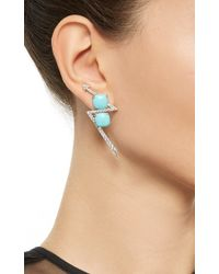 Lydia Courteille - Multicolor One Of A Kind Asymmetric Arrow Earrings - Lyst