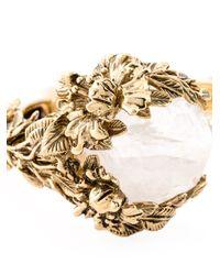 Roberto Cavalli | Metallic Stones Floral Cuff | Lyst