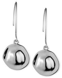 Anne Klein - Metallic Silver-tone Drop Earrings - Lyst