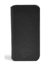 Tory Burch - Black Leather Iphone 6 & 6s Case - Lyst