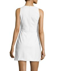 Peter Pilotto - White Embroidered Sleeveless Mini Dress - Lyst