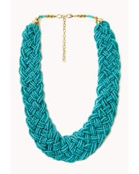 Forever 21 - Blue Statement Multibraided Choker - Lyst