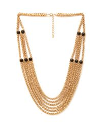 Forever 21 | Metallic Faux Stone Chain Necklace | Lyst