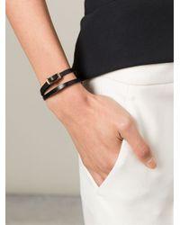 McQ | Black Buckle Double Wrap Bracelet | Lyst