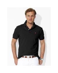 Polo Ralph Lauren - Black Classic-fit Mesh Polo Shirt for Men - Lyst