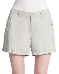 Calvin Klein Jeans | Gray Linen-Blend Shorts | Lyst