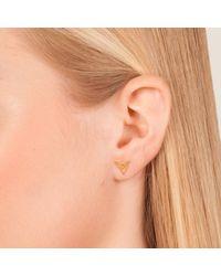 Dutch Basics - Metallic The Hef Studs Rose Gold - Lyst