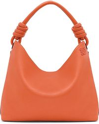 Loewe | Orange Hobo Leather Tote Bag Large | Lyst