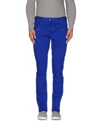 Just Cavalli - Blue Casual Trouser for Men - Lyst