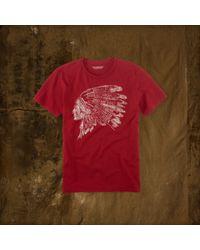 Denim & Supply Ralph Lauren - Red Cotton Graphic Tee for Men - Lyst