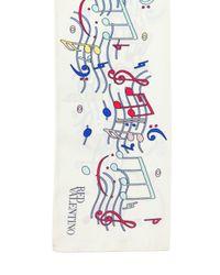 RED Valentino | Multicolor Music Note Silk Twill Scarf | Lyst