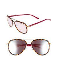 Michael Kors | Brown 57mm Aviator Sunglasses | Lyst