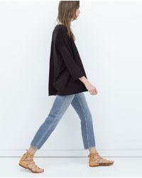 Zara | Black Knitted Cardigan | Lyst