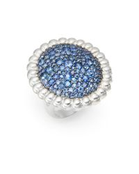 Slane | Blue Nuage Pavã© Sapphire & Sterling Silver Ring | Lyst