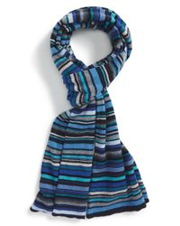 Paul Smith | Blue Multistripe Knit Scarf for Men | Lyst