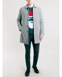 TOPMAN - Blue Santa Face Xmas Crew Sweater for Men - Lyst