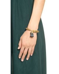 Holst + Lee - Metallic Holst + Lee Mesh Star Tassel Bracelet - Gold/Black - Lyst