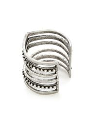 Sunahara - Metallic Statement V Ring - Silver - Lyst