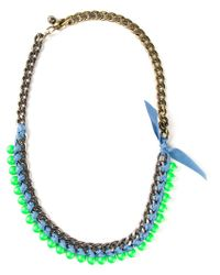 Lanvin | Green '22 Faubourg' Necklace | Lyst