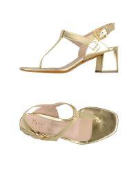 Maria Cristina - Metallic Thong Sandal - Lyst