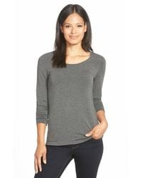 Eileen Fisher | Gray 'cozy' Long Jersey Top | Lyst