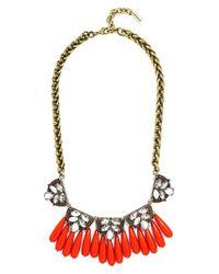 BaubleBar - Metallic 'orinko' Statement Collar Necklace - Antique Gold - Lyst
