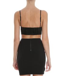 T By Alexander Wang | Black Stretch Satin Bralette | Lyst