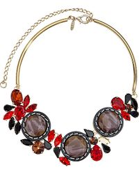 Marni | Red Gold-plated Resin Choker Necklace | Lyst