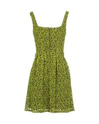 Christopher Kane - Green Short Dress - Lyst