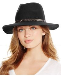 BCBGeneration | Black Chained Panama Hat | Lyst
