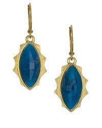 Sam Edelman - Blue Marquis Stone Drop Earrings - Lyst