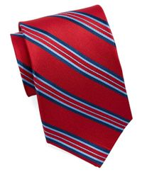 Burma Bibas | Red Silk Multi-Stripe Tie for Men | Lyst