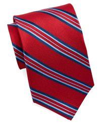 Burma Bibas - Red Silk Multi-Stripe Tie for Men - Lyst