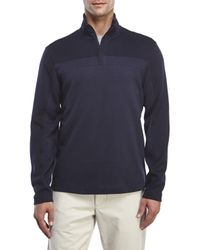 Perry Ellis - Blue Quarter-Zip Pullover for Men - Lyst