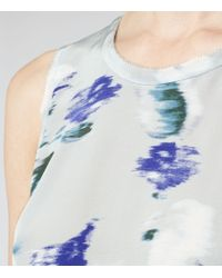 Reiss - White Constance Printed Sleeveless Top - Lyst
