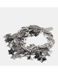 COACH - Metallic Pave Clustered Metal Stars Bracelet - Lyst