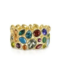 FORZIERI - Multicolor Crystal And Metal Bangle - Lyst