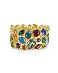 FORZIERI | Multicolor Crystal And Metal Bangle | Lyst