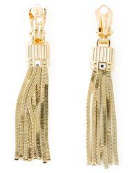 Lanvin | Metallic Tassel Pendant Earrings | Lyst