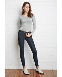 Forever 21 - Gray Classic Ribbed Top - Lyst