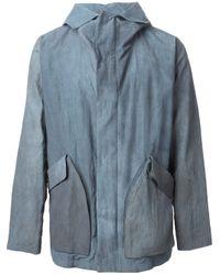 Giorgio Armani | Blue Hooded Tie Dye Parka for Men | Lyst