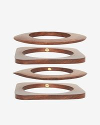 Kenneth Jay Lane | Brown Set Of 4 Wooden Bangles | Lyst