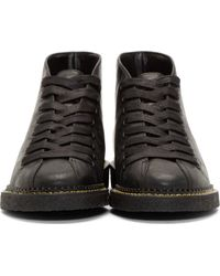 Alexander Wang - Black Glazed Leather Emmanuel Desert Boots - Lyst
