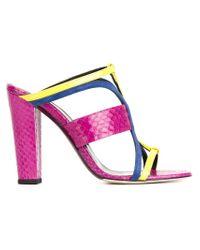 Oscar de la Renta | Yellow 'lonni' Sandals | Lyst