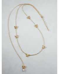 Patrizia Pepe | Metallic Costume Jewellery Necklace With Butterflies | Lyst