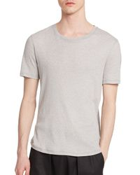 Helmut Lang - Gray Thermal Tee for Men - Lyst