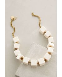 Anthropologie | White Cubed Horn Necklace | Lyst